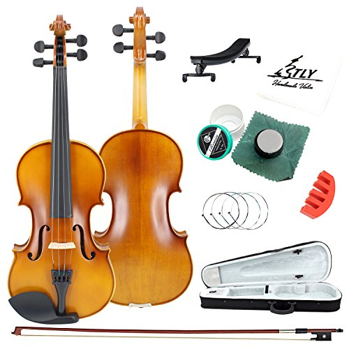 TLY Acoustic Professional Handmade Violin Wooden Outfit Beginner Pack for Student , 1/4 Size by TLY