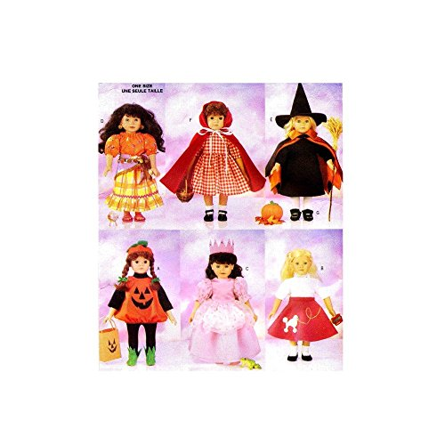 Patterns 18 Costume Halloween Doll Inch (Butterick Sewing Pattern 5661 - 18