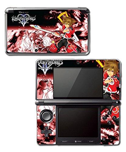 Kingdom Hearts Sora Mickey Keyblade Kairi Video Game Vinyl Decal Skin Sticker Cover for Original Nintendo 3DS System