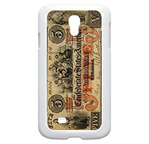 Vintage US of A Five Dollar Bill- Case for the Samsung Galaxy S4 i9500- Hard White Plastic Snap On Case