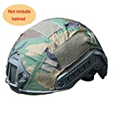 H World Shopping Outdoor Airsoft Paintball Tactical Military Gear Combat Fast Helmet Cover Woodland Camo WLD