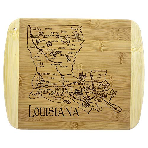 Totally Bamboo A Slice of Life Louisiana Bamboo Serving and Cutting Board