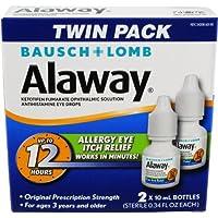 Alaway Antihistamine Eye Drops 2 x 10mL Bottles