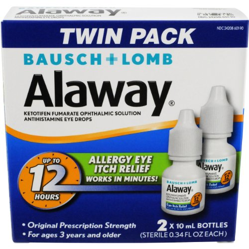 Alaway Antihistamine Eye Drops, 0.34 fl oz (Pack of 2)