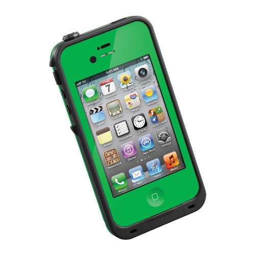 HESGI New Waterproof Shockproof Dirtproof Snowproof Protection Case Cover for Apple Iphone 4 4S (Iphone 4 Cases Green)
