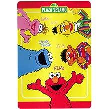 Sesame Street Plush Twin Blanket Plush Elmo Amigos Bed Cover