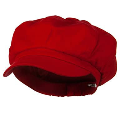 6a0f5f50 Big Size Cotton Newsboy Hat - Red (for Big Head) at Amazon Women's ...