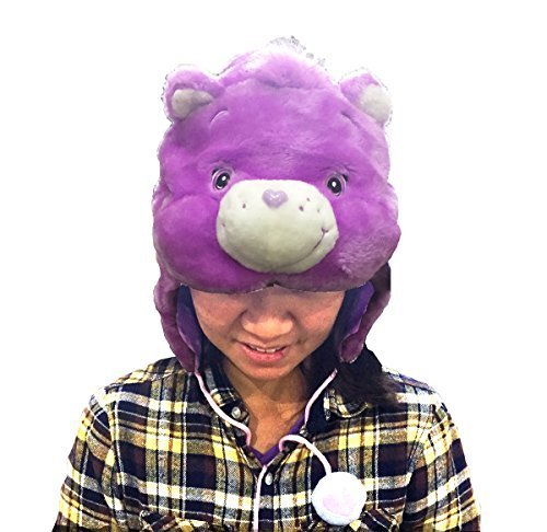 Adult Care Bears Funshine Bear Costumes (Care Bear Funshine Bear Purple Kigurumi Cap)