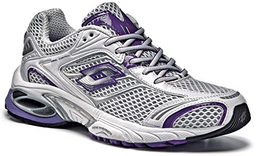 Lotto Los Angeles IV 2D W Women's Running Sport Shoes silver n / royal purple 3PuIIpQ3n