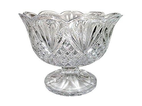 Elegant Large Clear Crystal Serving Bowl, Centerpiece For Home,Office,Wedding Decor, Fruit, Snack, Dessert, Server -
