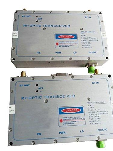Fiber Bandwidth Optic (E-link RF over fiber optic transceiver, RF Bandwidth: 800-2200MHz, Fiber Optic: Single Mode, Single Fiber, 20km, 1310/1550nm, FC Connector, including 1 Master & 1 Slave)