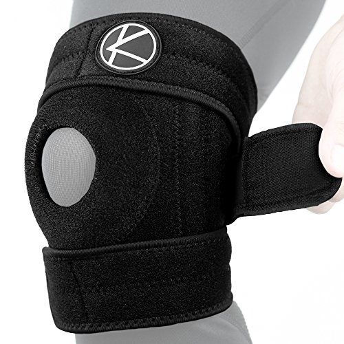 Adjustable Copper Knee Brace Support for Arthritis, ACL, MCL, LCL, Sports Exercise, Meniscus Tear, Injury Recovery, Pain Relief, Walking - Open Patella Neoprene Stabilizer Wrap Women, Men, Kid(Size - Sized Brace Knee