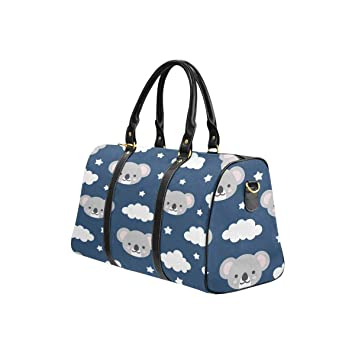 c5b1c198d24 Amazon.com   InterestPrint Travel Bag Duffel, Large Lightweight Weekender Overnight  Bag Cute Koala Good Night   Travel Duffels