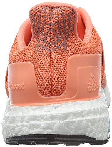 adidas Ultra Boost St W, Zapatillas de Running para Mujer Rojo / Naranja / Negro (Brisol / Narsup / Negbas)