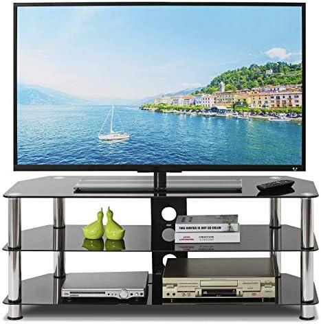 Mueble TV Curvo, Mesa para Televisión de Vidrio, Soporte de TV Moderno Soporte de 32 a 65 Pulgadas LCD/LED / 3D / Plasma, Muebles Multifunción para Decoración de Dormitorio/Sala de Estar: Amazon.es: