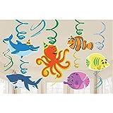 Amscan Ocean Buddies Hanging Swirls (12 ct)