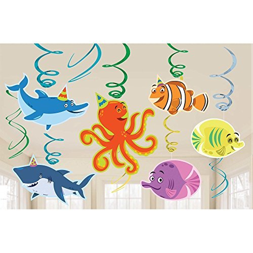 (Amscan Ocean Buddies Hanging Swirls (12 ct))