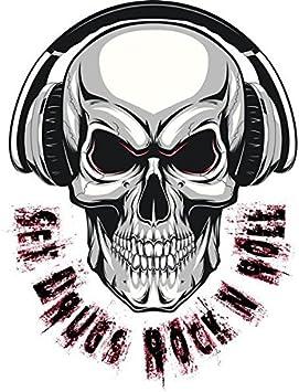 Sex Drugs Rock N Roll Schädel Totenkopf Aufkleber Sticker Musik Bands Autoaufkleber Auto