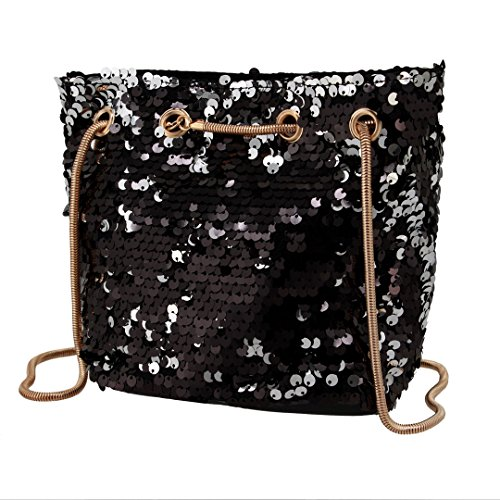 Multicolor Purse Shoulder Womens Handbag Clutch Sparkly Sequins Black Bag Gabrine Fashion Evening Glitter Crossbody Eqgzq16p