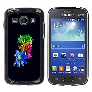 Caucho caso de Shell duro de la cubierta de accesorios de protección BY RAYDREAMMM - Samsung Galaxy Ace 3 - Flores coloridas