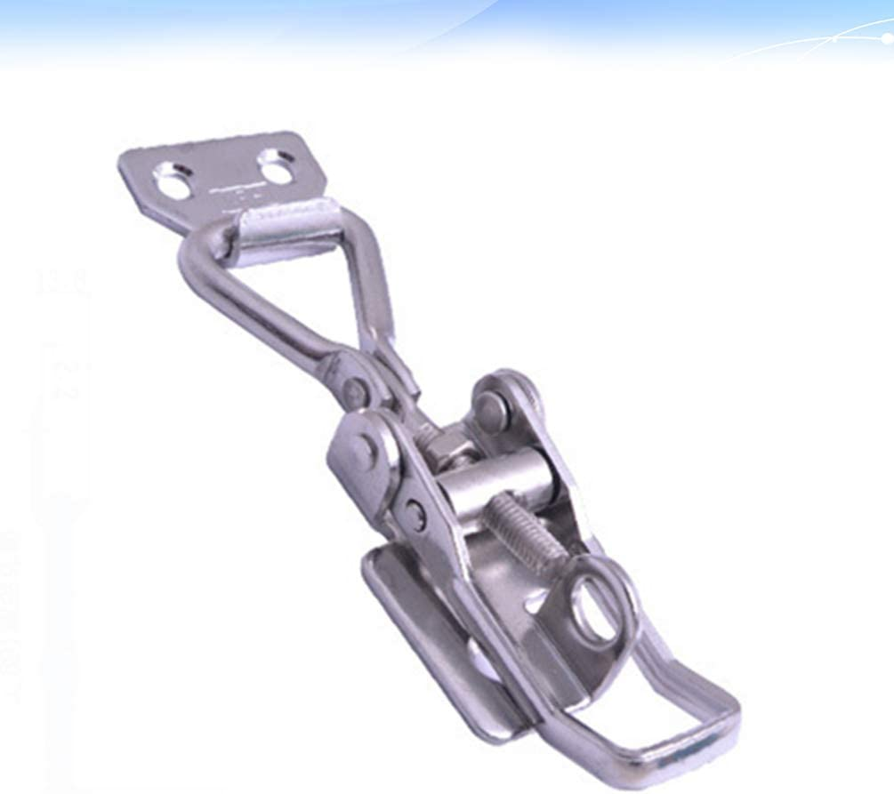 iplusmile Adjustable Latch Buckle Spring Hasps Locks Cabinet Box Hasp Latch for Mechanical Equipment