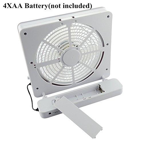 Battery Operated Desk Fan : Welltop inch portable fan usb or aa battery powered