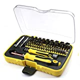 Meao 70-Piece Mini Household hand Mixed Screwdriver Tool Set Kit with the Plastic Storage Box - Ideal for Home Use and Appliances Repairing