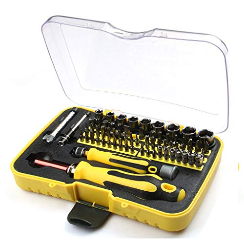 Meao 70-Piece Mini Household hand Mixed Screwdriver Tool Set Kit with the Plastic Storage Box - Ideal for Home Use and Appliances Repairing by Meao