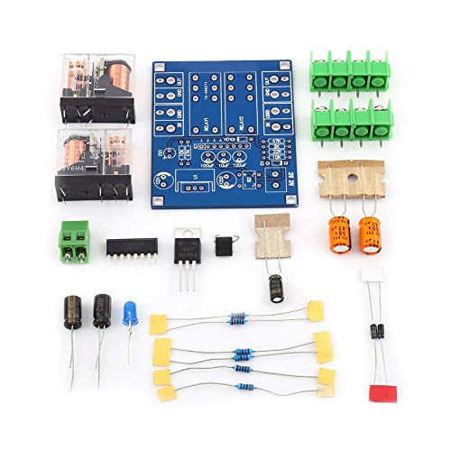 Speaker Protection Board Dual Relay Voltage Regulator Circuit Module DIY Kit AC 12-24V ()
