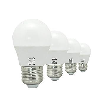 Bombilla LED Esférica E27 3 W, Equivalencia de 25 W, Luz Blanca 6000K,