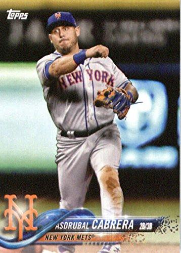 2018 Topps Factory Team Sets New York Mets #NM-17 Asdrubal Cabrera New York Mets Baseball Card