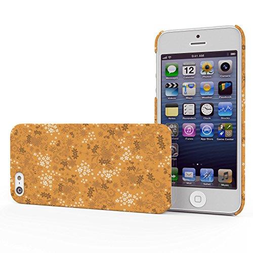 Koveru Back Cover Case for Apple iPhone 5S - Orange Printed Pattern