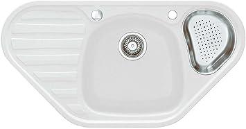 Franke Kitchen Sink Calypso Cog 651 Glacier Granite Sink White Corner Sink Unit Amazon Co Uk Diy Tools