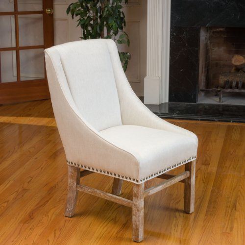 Christopher Knight Home 295012 James Fabric Dining Chair, Natural (Linen Tufted Dining Chair)