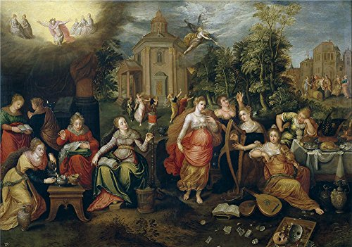 Oil Painting 'Lisaert Pieter Las Virgenes Necias Y Las Virgenes Prudentes', 8 x 11 inch / 20 x 29 cm , on High Definition HD canvas prints, gifts for Game - Jones Peter Sunglasses