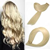 Bleaching Hair Is A Chemical Change - SeaShine Tape in Hair Extensions #60 Platinum Blonde 100% Remy Human Hair Extensions Silky Straight for Fashion Women 20 Pcs/Package(16Inch #60 30g)