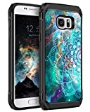 Galaxy S7 Case, BENTOBEN Slim Shockproof 2 in 1 Hard PC Cover Soft Rubber Bumper Dual Layer Hybrid Anti-Slip Luminous Noctilucent Protective Phone Cases for Samsung Galaxy S7, Mandala in Galaxy