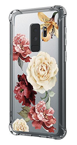 Case for Galaxy S9 Plus,Cutebe Shockproof Hard PC+ TPU Bumper Case Scratch-Resistant Cover for Samsung Galaxy S9 Plus 2018 Release Flower