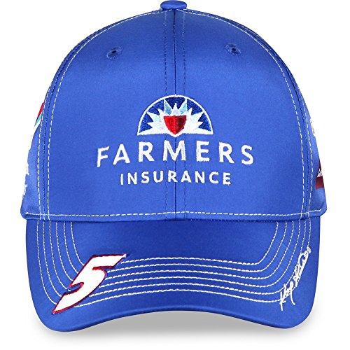 NASCAR Adult-Driver/Sponsor-Uniform-Adjustable Hat/Cap-Kasey Kahne #5-Farmers (Kasey Kahne Cap)