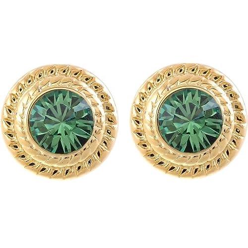 50a07293b655 85% OFF Pendientes plata Colores con piedras Swarovski® – dunkelgrüne  Granito piedras – Alta