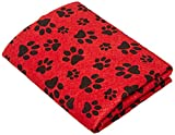 Dogs Unleashed Ritz Super Absorbent Viscose Pet Towel, 20 by 27-Inch, Fire Hydrant Red