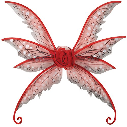 International Costumes - Loftus International Magical & Mysterious Fairy Wings, Red, Small/Medium/24