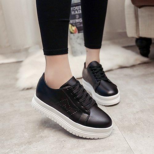 Cybling Womens Dikke Zolen Schoenen Fashion Casual Sneaker Schoenen Voor Vrouwen Wit