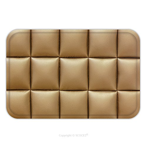 Flannel Microfiber Non-slip Rubber Backing Soft Absorbent Doormat Mat Rug Carpet Brown Leather Sofa Texture 162959540 for Indoor/Outdoor/Bathroom/Kitchen/Workstations (Distressed Leather Sofa Sale)