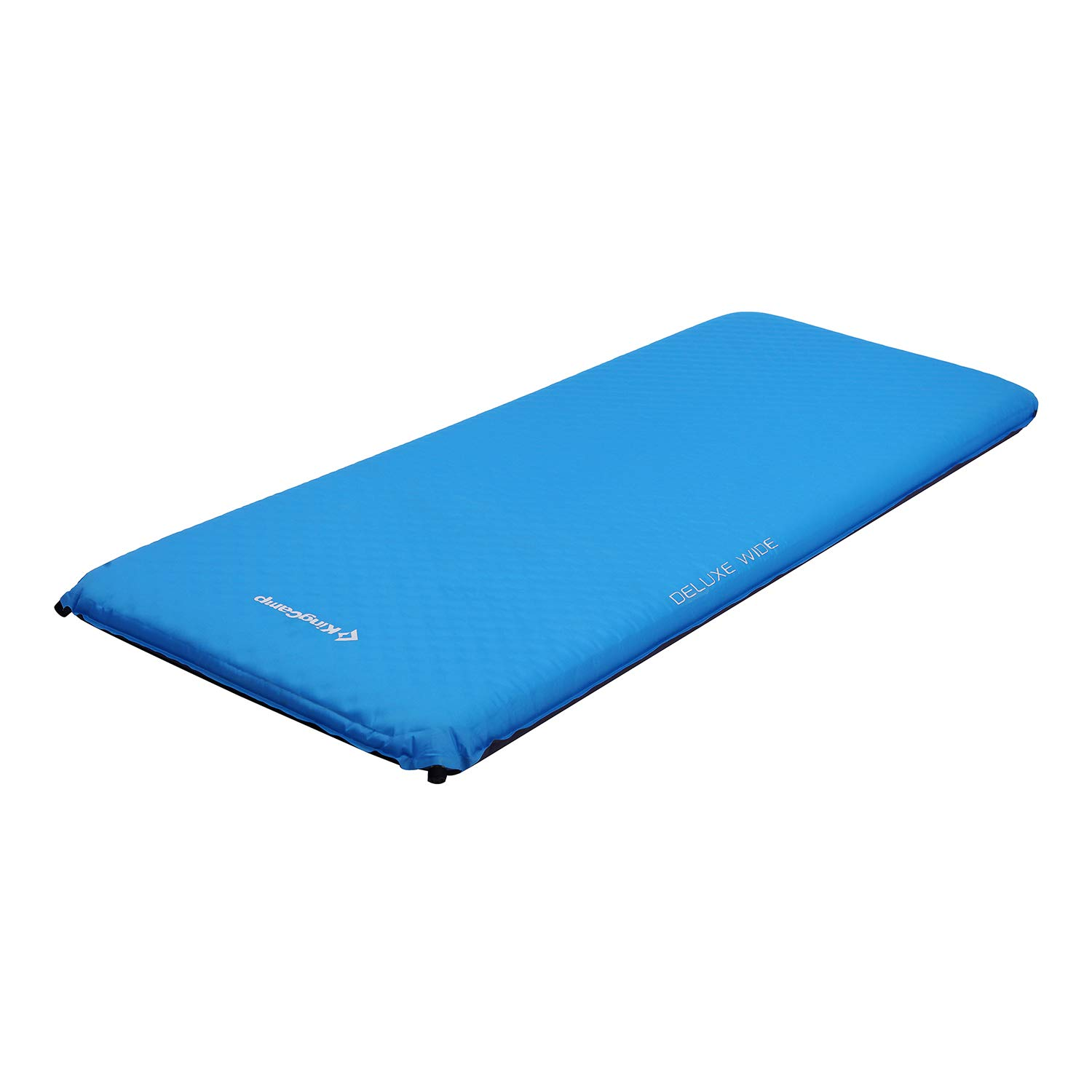 KingCamp Camping Sleeping Pad Foam Mat Mattress - Deluxe Wide Self Inflating 4 inches Thick Pad with Carry Bag, Suitable for Family Outdoor Activities (Blue-Deluxe Wide) by KingCamp