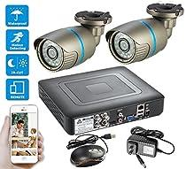 Mbangde 4CH 1080N CCTV DVR with 1 TB HDD + 4PCS Waterproof CCTV 1080P AHD Camera