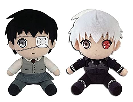 """Great Eastern Animation GE-52928 Kaneki White Hair 7/"""" Plush Toy Tokyo Ghoul"""