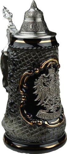 Old German Petwer Coat of Arms Black Lozenge German Beer Stein 0.5l
