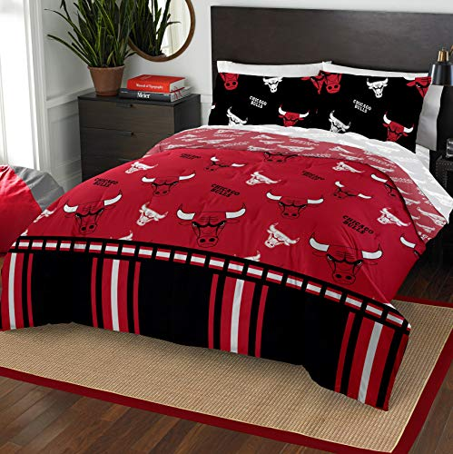 The Northwest Company NBA Chicago Bulls Full Bed in a Bag Complete Bedding Set #856418619