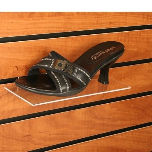 Clear Acrylic Slatwall Shoe Shelf - 4